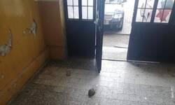 polomljena-stakla-na-ulaznim-vratima-skole-u-obilicu